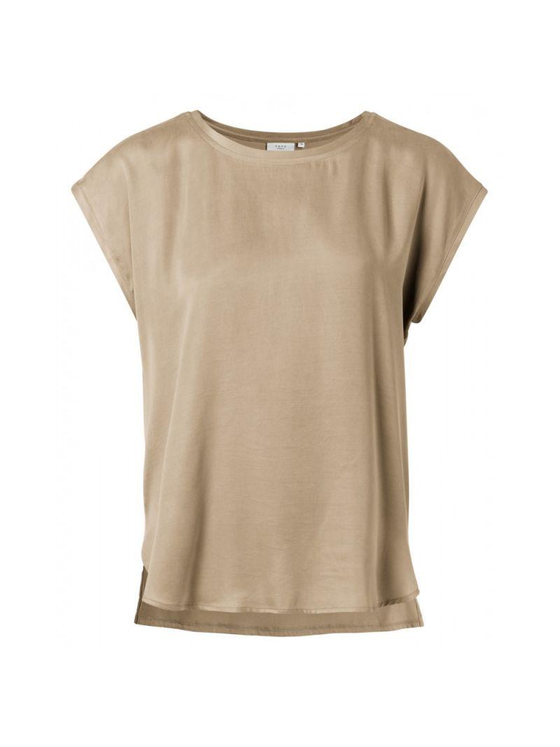 T-Shirt Korte Mouw Stofmix - Klei