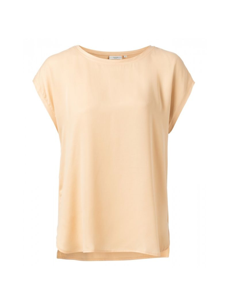 T-Shirt Korte Mouw Stofmix - Perzik