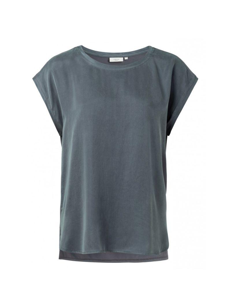 T-Shirt Korte Mouw Stofmix - Grijs