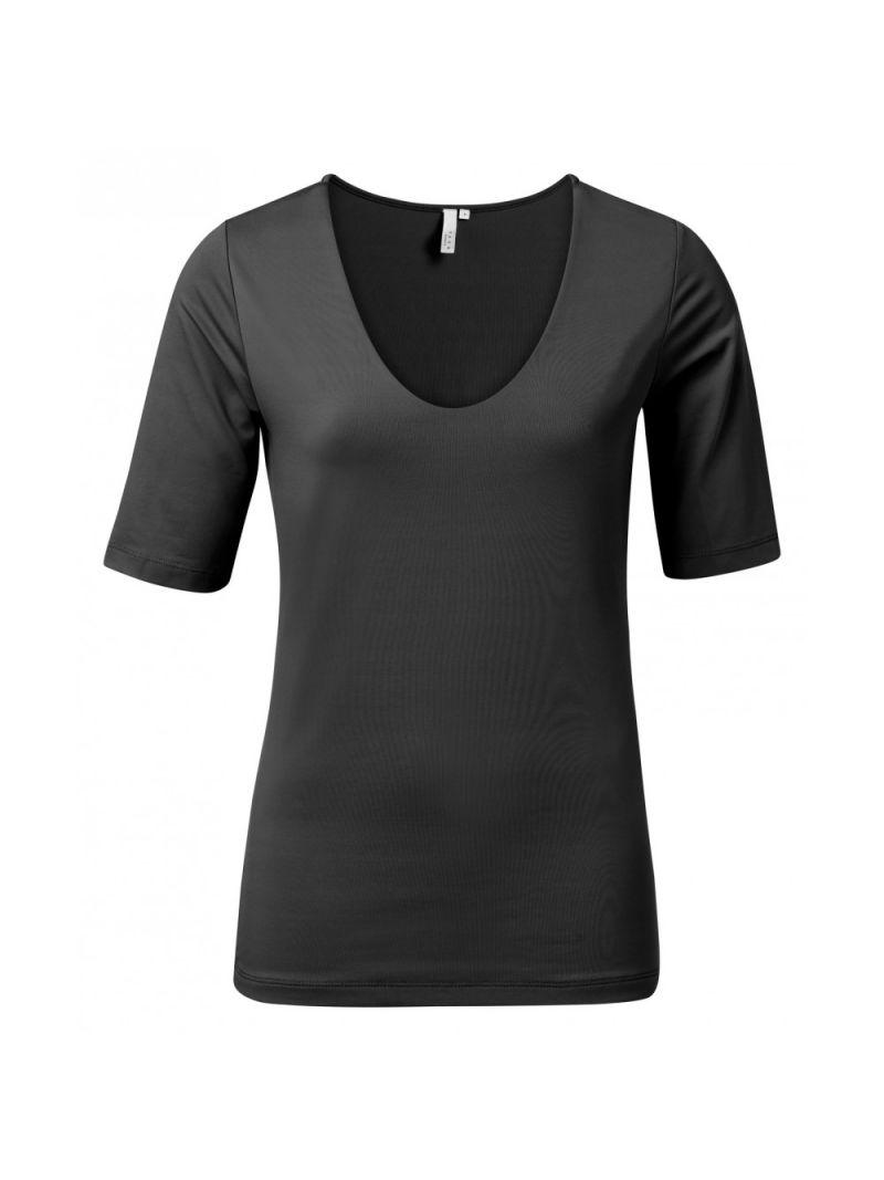 T-Shirt met Halve Mouw - Zwart
