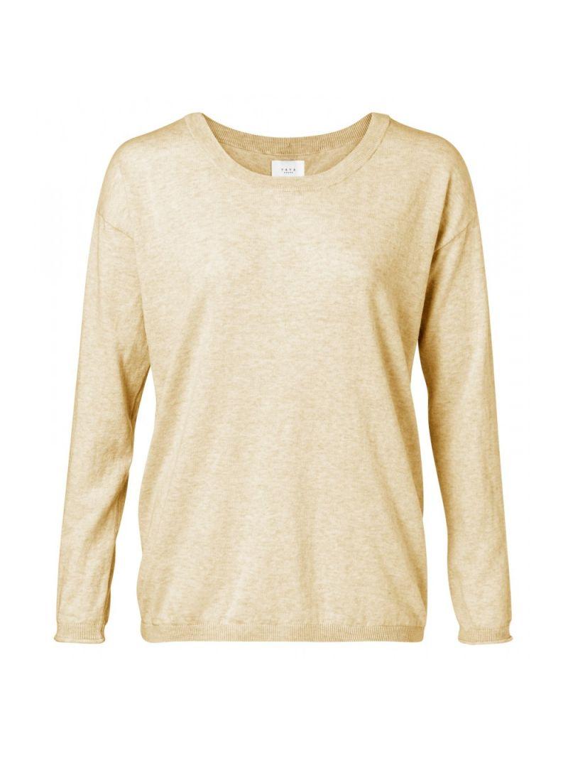 Fijnbrei Pullover met Knoopjes - Geel
