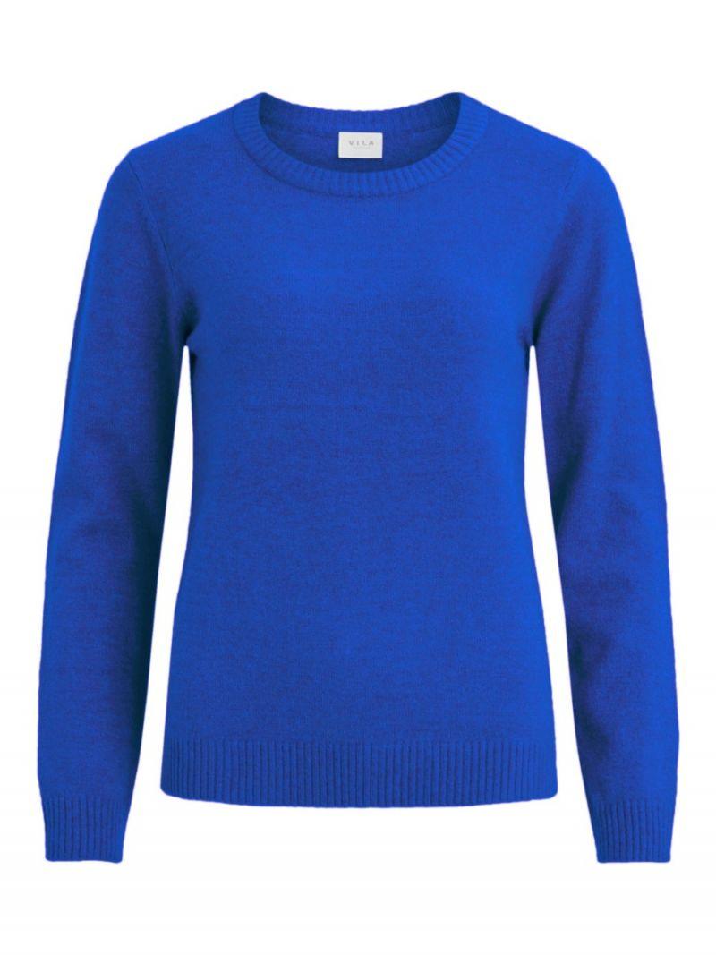 Gebreide Pullover met Ronde Hals - Cobalt