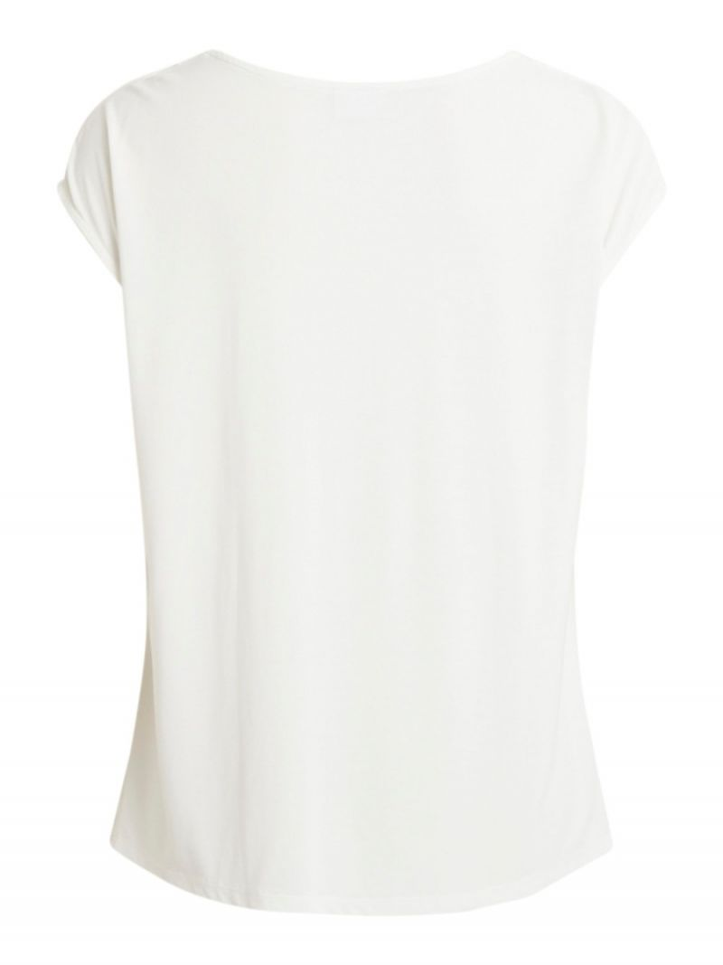 Shirt met Waterval Hals - Off White