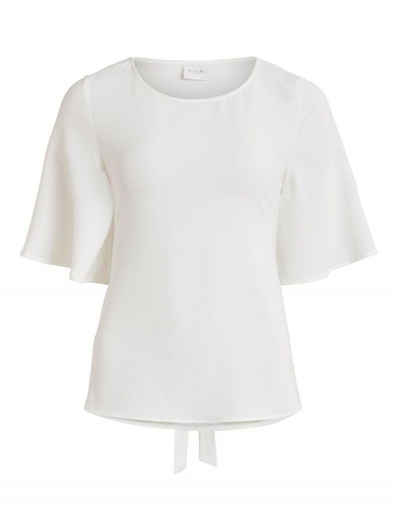 Blouse Top met Strik - Off White