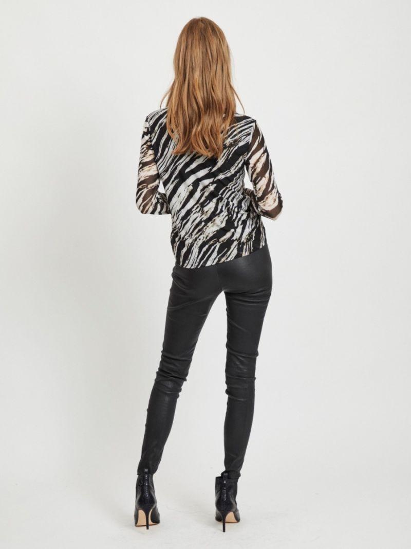 Mesh Shirt Zebraprint
