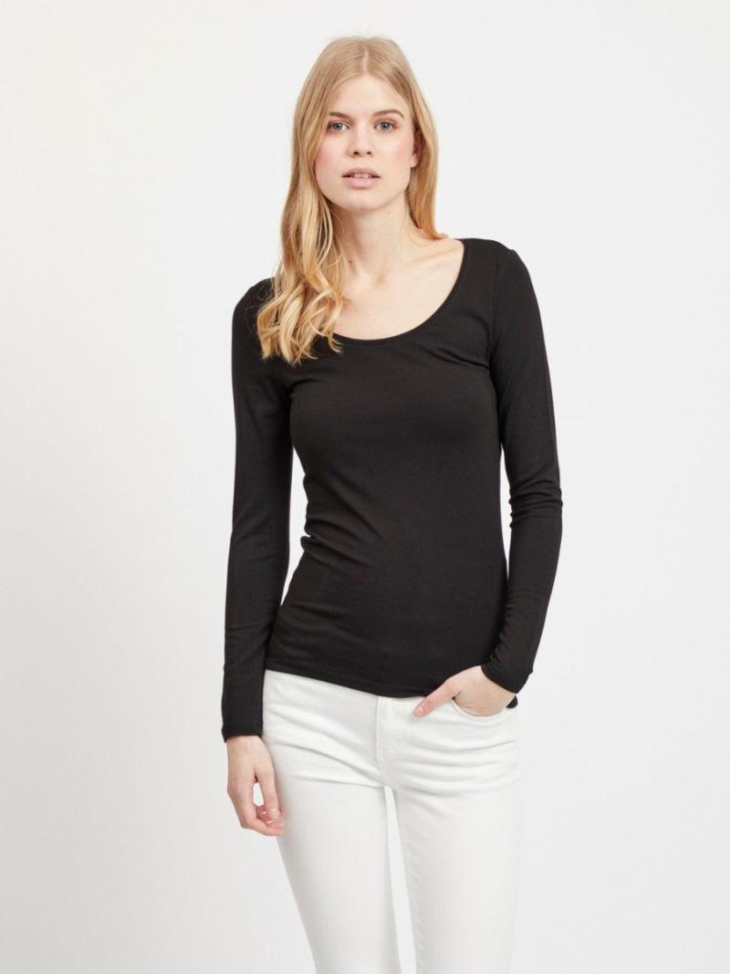 Basis Shirt met Lange Mouw - Zwart