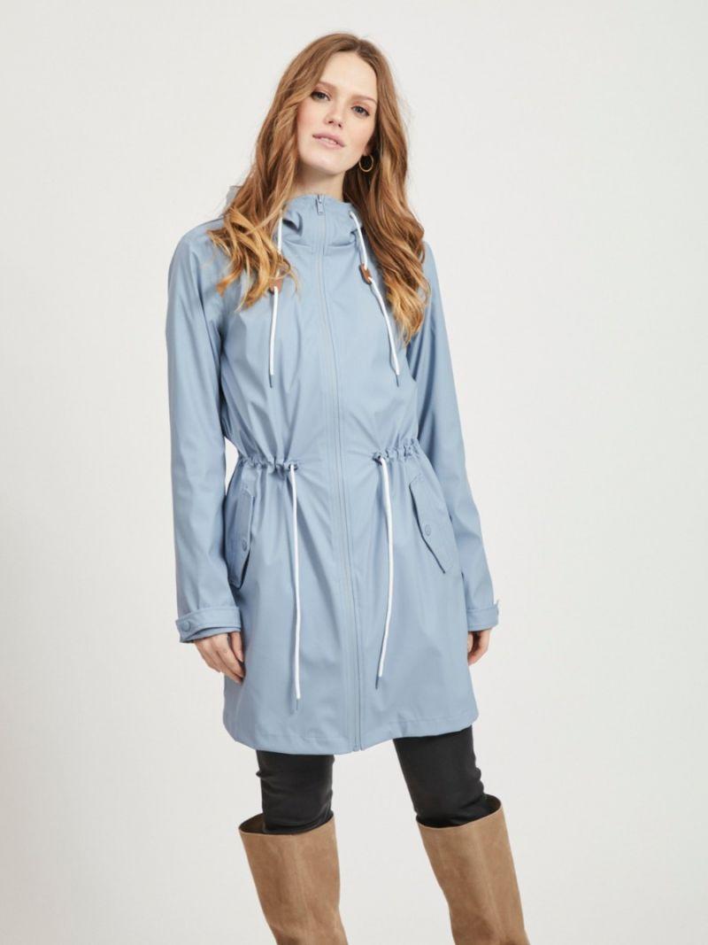 Regenjas met Capuchon - Licht Blauw