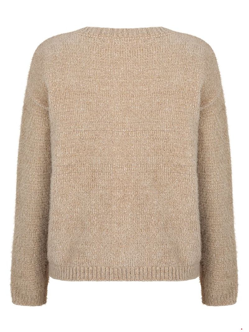 Chenille Pullover - Taupe