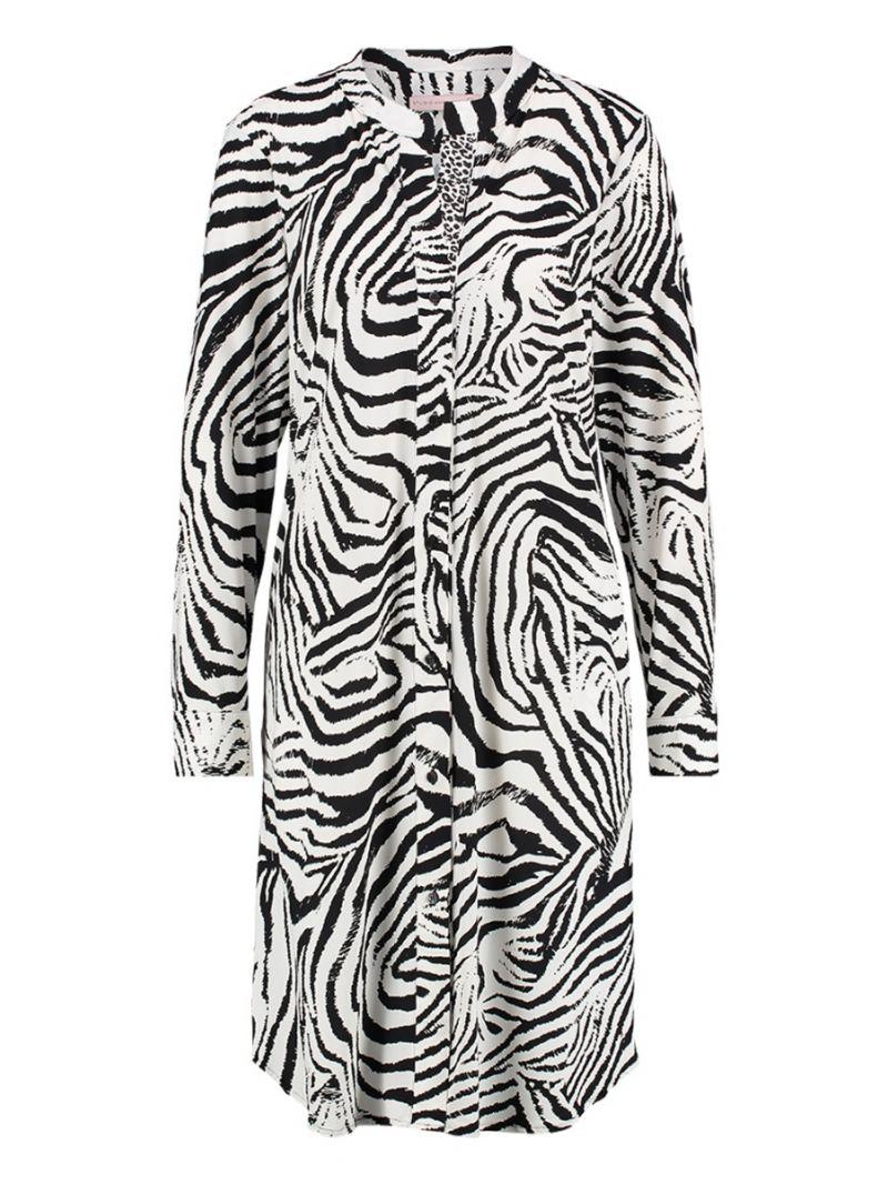 Travel Tuniek Jurk met Zebra Print
