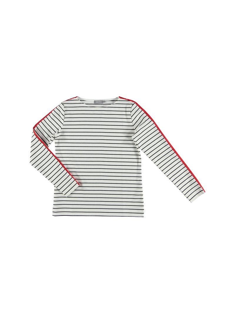 Sweater Streep met Biesaccent